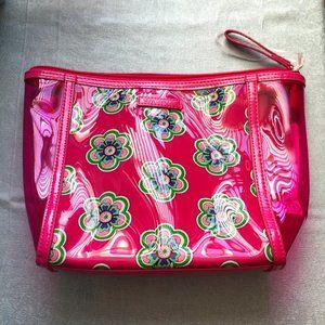 Vera Bradley Pink Floral Clear Cosmetic Bag